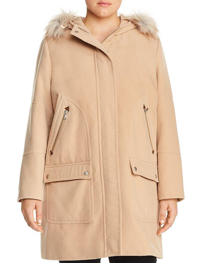 eb867cb90a Bagatelle Plus Hooded Zip-Pocket Coat   Bloomingdale's