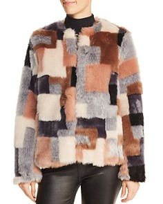 Rebecca Taylor - Patchwork Faux-Fur Coat