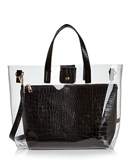 AQUA -  Clear Tote Bag with Pouch - 100% Exclusive