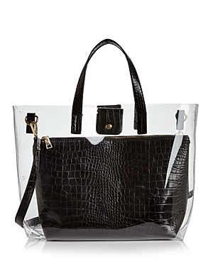 Aqua Clear Tote Bag with Pouch