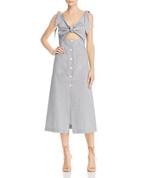 62f4617520e94 Alice McCall - Make Sense Striped Cutout Midi Dress ...