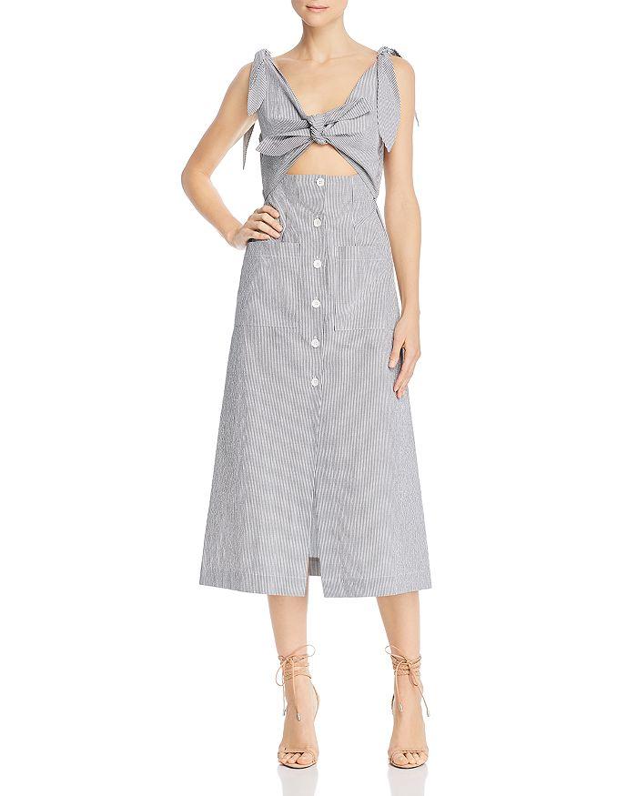 Alice McCall - Make Sense Striped Cutout Midi Dress