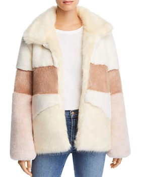 Apparis - Amy Color-Blocked Faux-Fur Coat