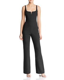 LIKELY - Notched Neckline Straight-Leg Jumpsuit