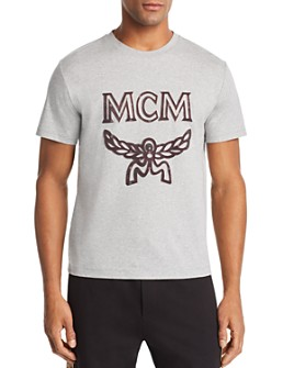 MCM - Metallic-Trimmed Logo Appliqué Tee