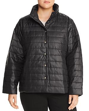 Eileen Fisher Plus Stand Collar Puffer Jacket