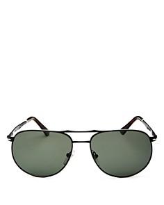 Persol - Men's Sartoria Brow Bar Aviator Sunglasses, 52mm