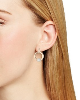 Ralph Lauren - Frontal Hoop Simulated Pearl Clip-On Earrings