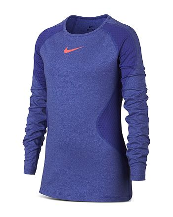 234d44a245 Nike Girls' Pro Warm Performance Top - Big Kid | Bloomingdale's
