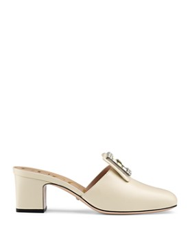 Gucci - Women's Madelyn Square G Leather Slides