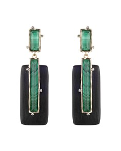 Alexis Bittar - Stone Retro Rectangular Clip-On Earrings