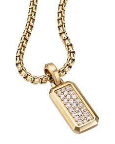 David Yurman - Streamline Amulet in 18K Yellow Gold with Pavé Diamonds