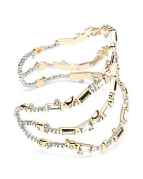Alexis Bittar - Crystal Baguette Sculptural Cuff Bracelet