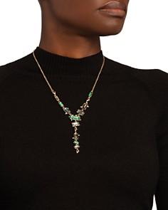 """Alexis Bittar - Multi-Stone Lariat Necklace, 16"""""""