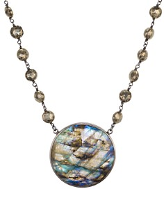 """Ela Rae - Morah Pendant Necklace in Rhodium-Plated Sterling Silver, 14"""""""