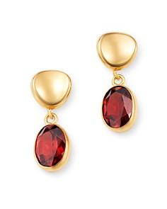Bloomingdale's - Garnet Oval Drop Earrings in 14K Yellow Gold - 100% Exclusive