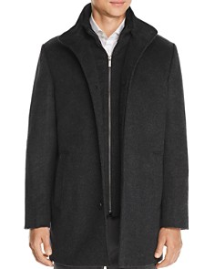 Cardinal Of Canada - Wool & Cashmere Car Coat with Removable Bib