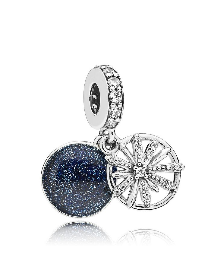 bb3ef67ad Pandora Sterling Silver & Cubic Zirconia Dazzling Wishes Drop Charm ...