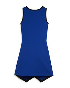 AQUA - Girls' Faux-Wrap Textured Tank Dress, Big Kid - 100% Exclusive