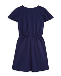 AQUA - Girls' Flutter-Sleeve Faux-Wrap Dress, Big Kid - 100% Exclusive