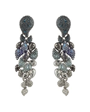 Alexis Bittar Ombre Paisley Clip-On Earrings