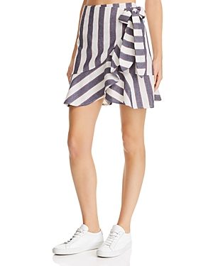 The Fifth Label SEQUENCE STRIPED MINI WRAP SKIRT