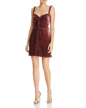 Donna Mizani - Ollie Velvet Mini Dress