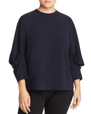 Vince Camuto Plus Draped-Sleeve Top