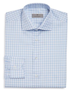 Canali - Open-Checked Regular Fit Dress Shirt