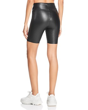 Commando - Perfect Control Faux-Leather Bike Shorts