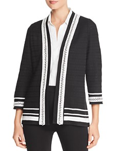 Misook - Chain-Trim Cardigan