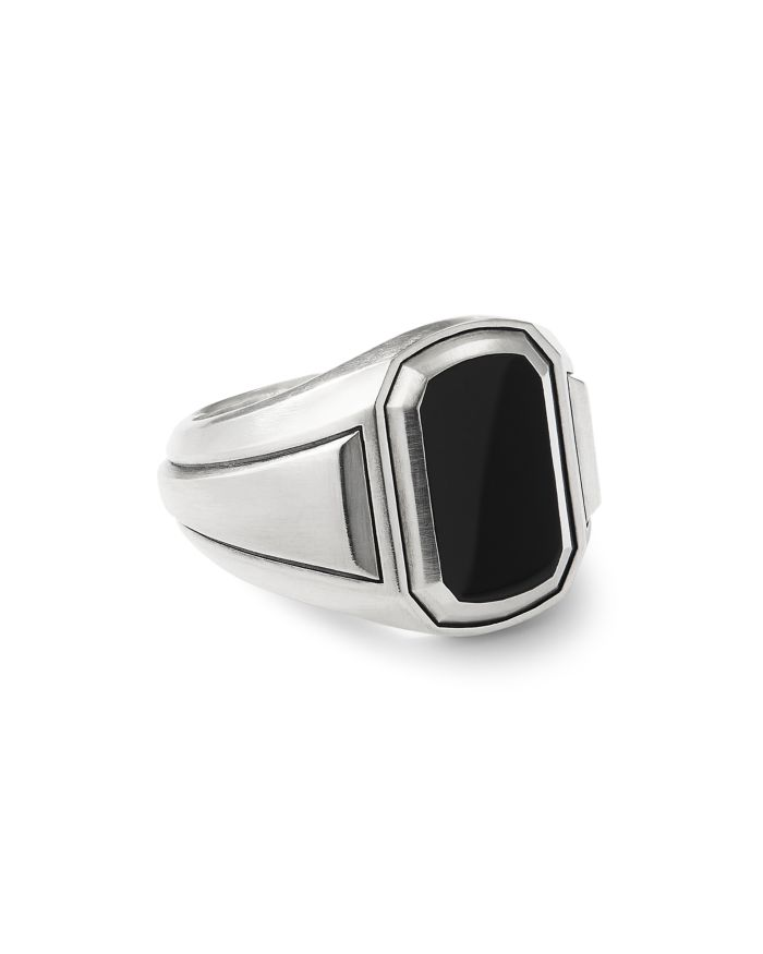 David Yurman Deco Signet Ring with Black Onyx  | Bloomingdale's