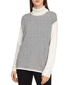REISS - Bridget Striped Turtleneck Sweater