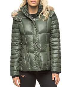 Marc New York - Aubrey Fur Trim Short Puffer Coat