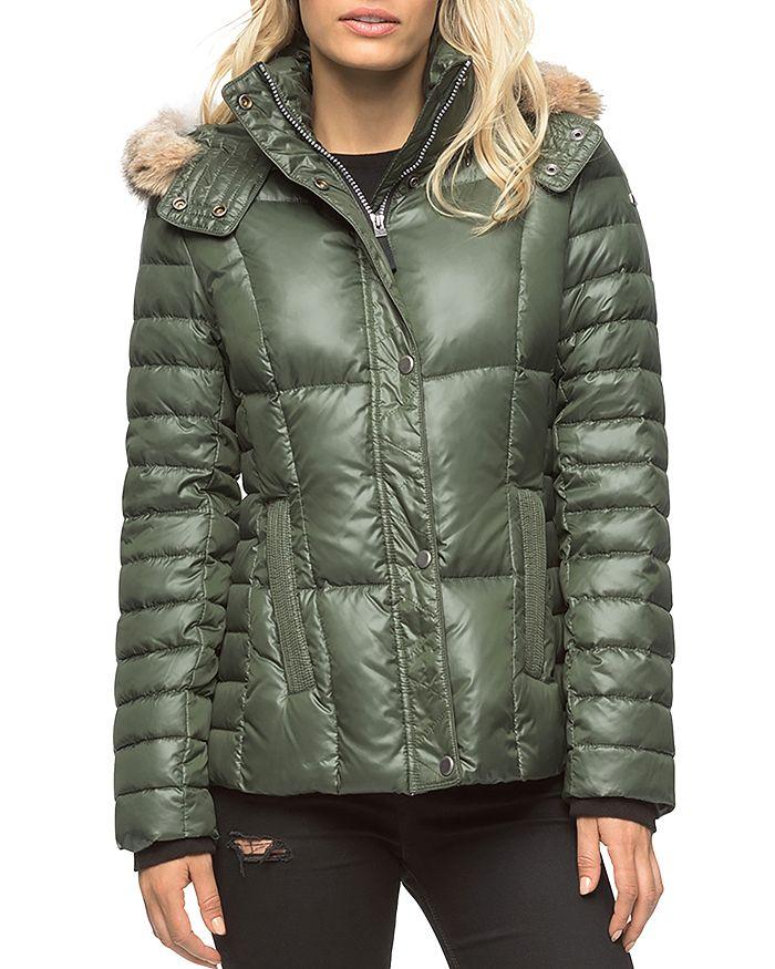 Marc New York - Aubrey Fur Trim Short Puffer Coat