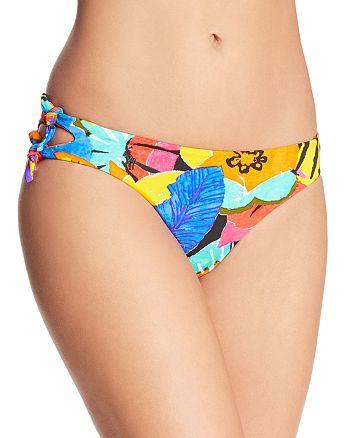 Ralph Lauren - Batik Floral Double Tie Hipster Bikini Bottom