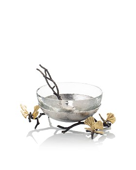 Michael Aram - Butterfly Ginkgo Glass Nut Dish with Spoon