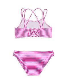 Gossip Girl - Girls' Striped 2-Piece Swimsuit - Big Kid