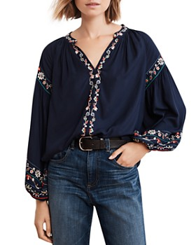 446872443a Velvet by Graham   Spencer - Carina Embroidered Peasant Top ...