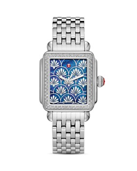 MICHELE - Deco Fleur Diamond Watch Head, 33mm x 35mm
