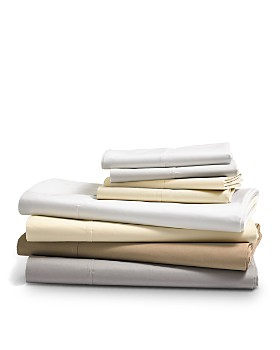 Hudson Park Collection - 470TC Percale Solid Sheet Sets - 100% Exclusive