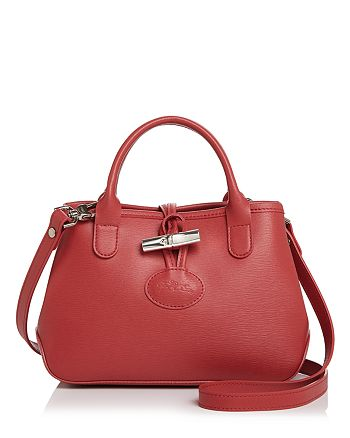 Longchamp Roseau Mini Leather Crossbody | Bloomingdale's