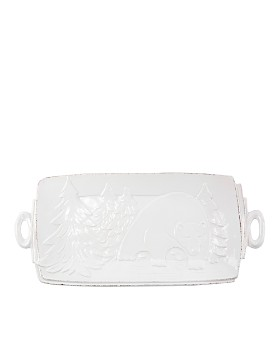 VIETRI - Lastra Winterland Handled Rectangular Platter