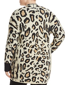 VINCE CAMUTO Plus - Textured Leopard Print Cardigan
