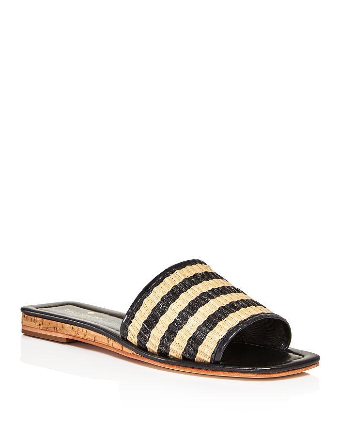 kate spade new york - Women's Juiliane Striped Raffia Slide Sandals