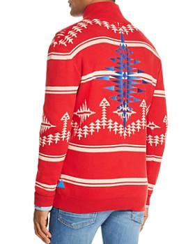 Scotch & Soda - Embroidered Alpine Fair-Isle Quarter-Zip Sweater