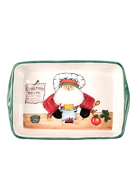 VIETRI - Old St. Nick Rectangular Baker with Chef