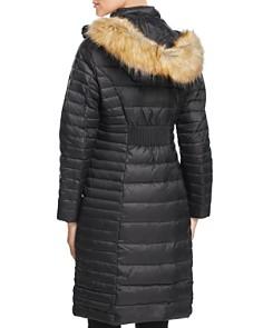 kate spade new york - Faux Fur Trim Hooded Puffer Coat