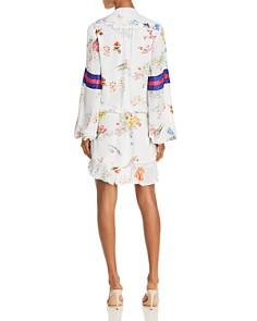 Rococo Sand - Floral Faux-Wrap Mini Dress