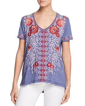 Johnny Was - Maya Embroidered Everyday Tee ...